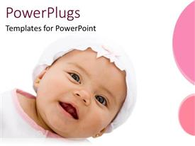 PowerPlugs: PowerPoint template with a beautiful kid smiling with white background