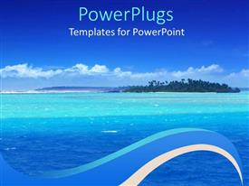 PowerPlugs: PowerPoint template with beautiful lagoon in the pacific and blue sky
