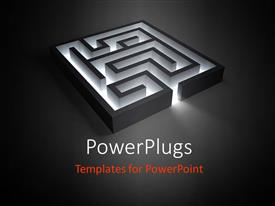 PowerPlugs: PowerPoint template with a beautiful maze with grayish background and place for text