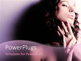 PowerPlugs: PowerPoint template with a beautiful naked girl showing her ring
