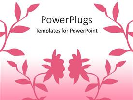 PowerPlugs: PowerPoint template with beautiful pinkish background including flowers of the same color