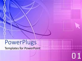 PowerPlugs: PowerPoint template with a beautiful representation of binary numbers with digital background