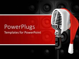 PowerPlugs: PowerPoint template with a beautiful representation of Christmas musical challenge with place for text