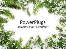 PowerPlugs: PowerPoint template with a beautiful representation of Christmas season with place for text