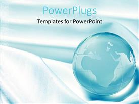 PowerPlugs: PowerPoint template with a beautiful representation of the globe with bluish background
