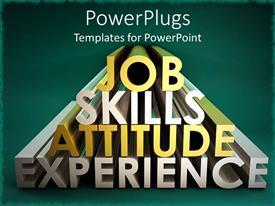 PowerPlugs: PowerPoint template with a beautiful representation of words including things important for job
