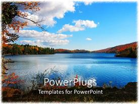 PowerPoint template displaying a beautiful scenery with a lot of clouds