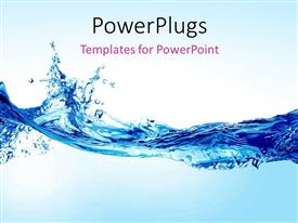 PowerPlugs: PowerPoint template with beautiful splash of water forming shape