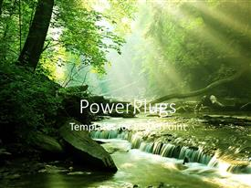 PowerPlugs: PowerPoint template with a beautiful spring with a lot of greenery