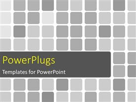 PowerPlugs: PowerPoint template with beautiful square grids colored with different shades of grey