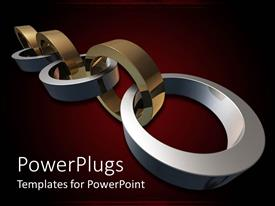 PowerPlugs: PowerPoint template with a beautiful stainless steel with reddish background