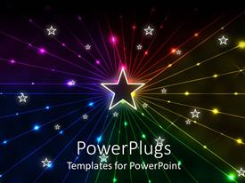 PowerPlugs: PowerPoint template with a beautiful star in the middle