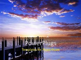 PowerPlugs: PowerPoint template with beautiful sunset evening
