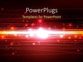 PowerPlugs: PowerPoint template with beautiful technology background with glowing particles