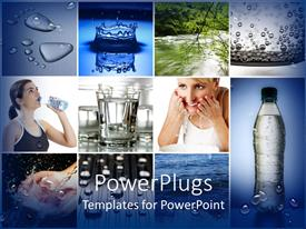 PowerPlugs: PowerPoint template with a beautiful theme made of various pictures related to water