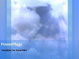 PowerPlugs: PowerPoint template with beautiful video on faith in God with cloud and light rays
