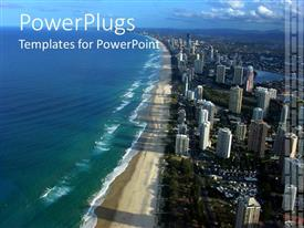 PowerPlugs: PowerPoint template with beautiful view of Australia with ocean, beach and city view