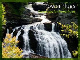 PowerPlugs: PowerPoint template with beautiful waterfall with water dropping into a beautiful gorge