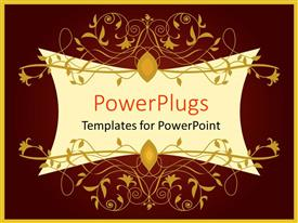PowerPlugs: PowerPoint template with beautiful wine colored background with orange frame