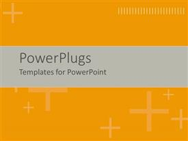 PowerPlugs: PowerPoint template with beige plus signs on orange background