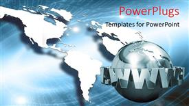 PowerPlugs: PowerPoint template with a globe with web and Earth in the background