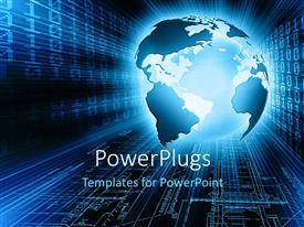 PowerPlugs: PowerPoint template with a globe with a lot of binary number sin the background