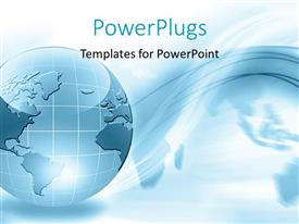 PowerPlugs: PowerPoint template with an arrow with a globe in the background