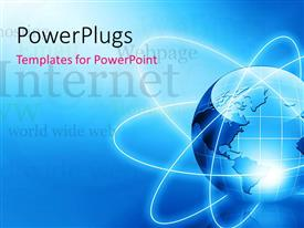 PowerPlugs: PowerPoint template with the depiction of Earth being a global village