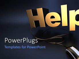 PowerPlugs: PowerPoint template with a keyboard with a place for text