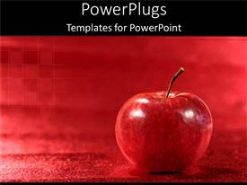 PowerPlugs: PowerPoint template with a big red apple on a red plain background