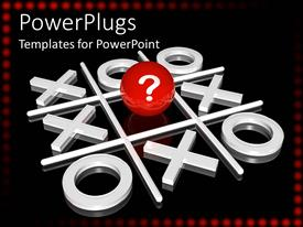 PowerPlugs: PowerPoint template with a big X and O board with a red question marked ball