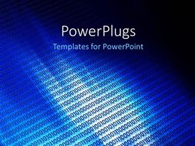 PowerPlugs: PowerPoint template with a bluish background with alot of binary numbers
