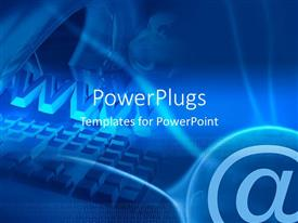 PowerPlugs: PowerPoint template with binary codes with internet related icons and globe