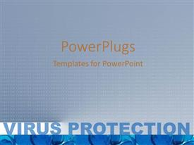 PowerPlugs: PowerPoint template with binary digits in abstract pattern with text VIRUS PROTECTION