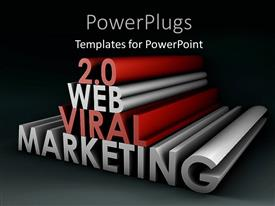 PowerPlugs: PowerPoint template with black background with 3D rendering WEB VIRAL MARKETING
