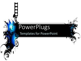 PowerPlugs: PowerPoint template with black digital splatter art for science fiction and futuristic feel on white background