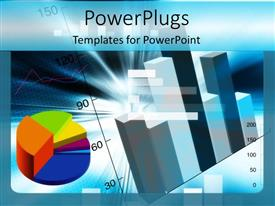PowerPlugs: PowerPoint template with black silhouettes business men with ties striped background purple and blue