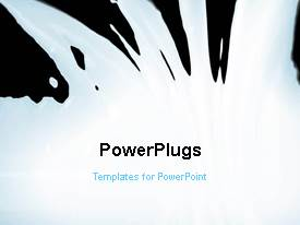PowerPlugs: PowerPoint template with black and white video with bullet points