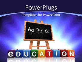 PowerPlugs: PowerPoint template with a blackboard with bluish background and place for text