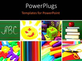 PowerPlugs: PowerPoint template with a blackish background with a number of bullet points