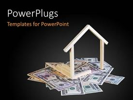 PowerPlugs: PowerPoint template with a blackish background and a number of dollars