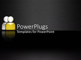 PowerPlugs: PowerPoint template with a blackish background with two figures