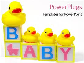 PowerPlugs: PowerPoint template with blcoks of alphabets for children to attract them to study