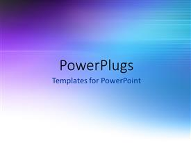 PowerPoint template displaying blue abstract blurred motion background