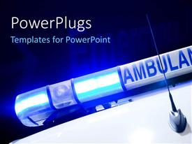 PowerPlugs: PowerPoint template with a figure of the ambulance with emergency in the background