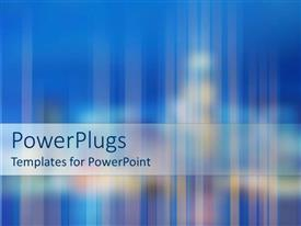 PowerPlugs: PowerPoint template with blue background with city lights blurred and faded