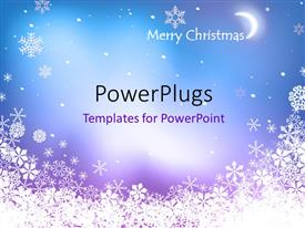 PowerPlugs: PowerPoint template with blue background framed with white snowflakes