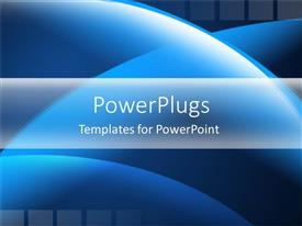 PowerPlugs: PowerPoint template with blue circular shapes abstract