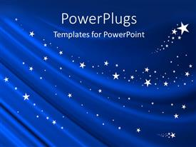 PowerPlugs: PowerPoint template with blue Curtain Background with White Stars