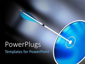 PowerPlugs: PowerPoint template with an arrow hitting the bulls eye
